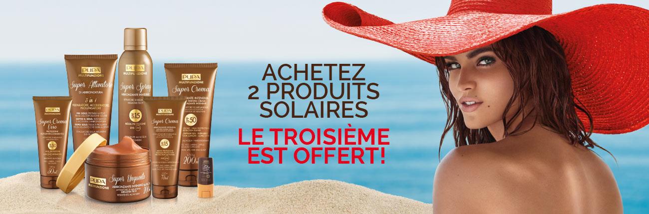 Promo Produits Solaires 3x2